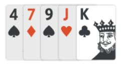 king as high card in texas holdem poker