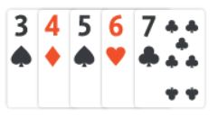 example of straight in texas holdem