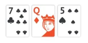 three flop cards