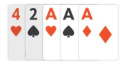 example of three of a kind in texas holdem