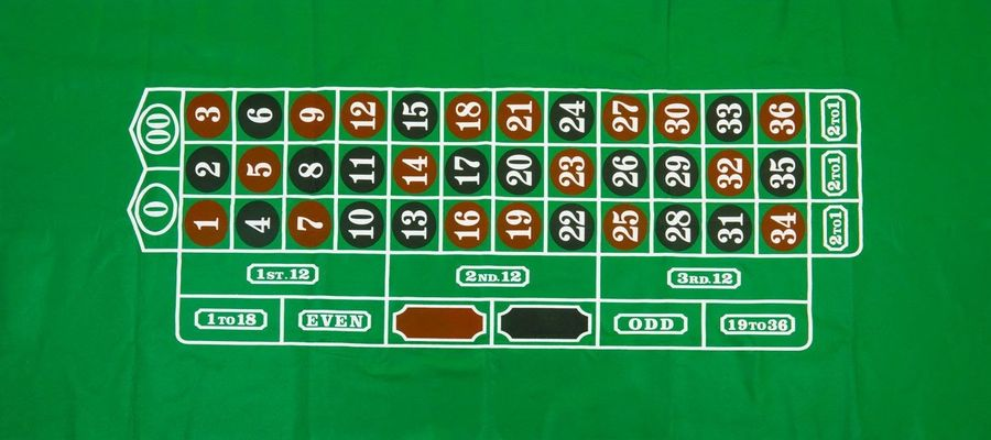 Image of the roulette cloth