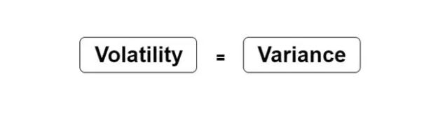Variance or volatility. Image explains  .