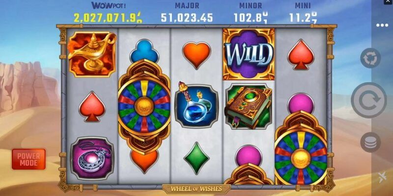 weheels of wishes jackpto slot screenshot