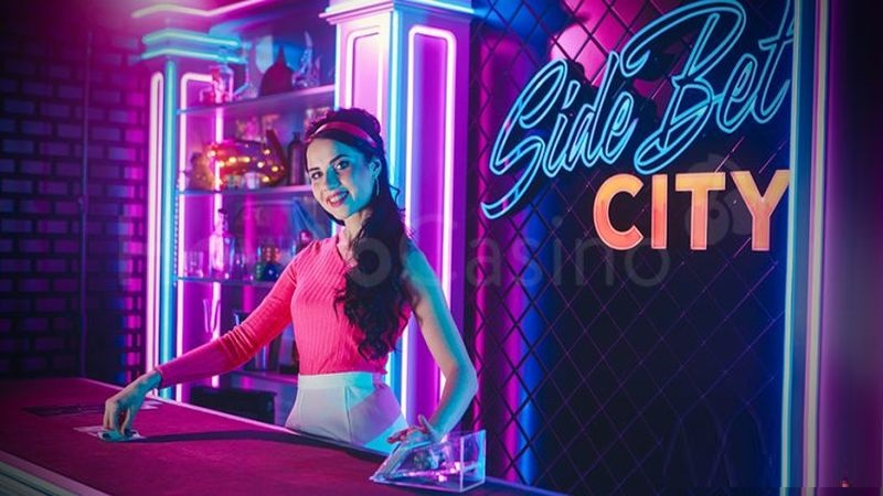 Live casino Side Bet City game by Evolution Gaming.