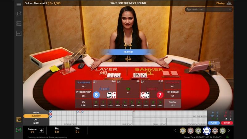 Live baccarat by Playtech