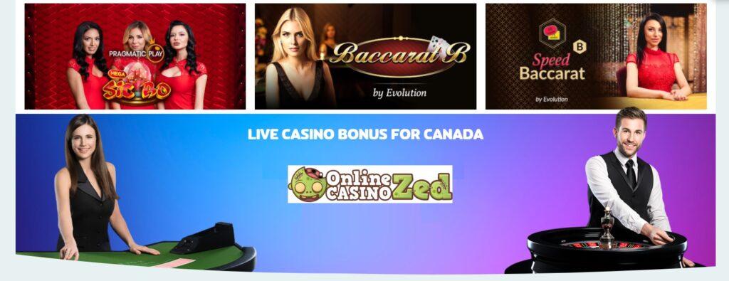 how do live casino bonus work