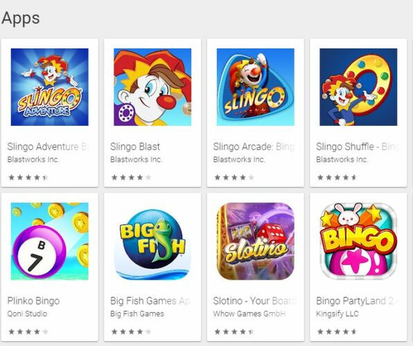 Slingo apps