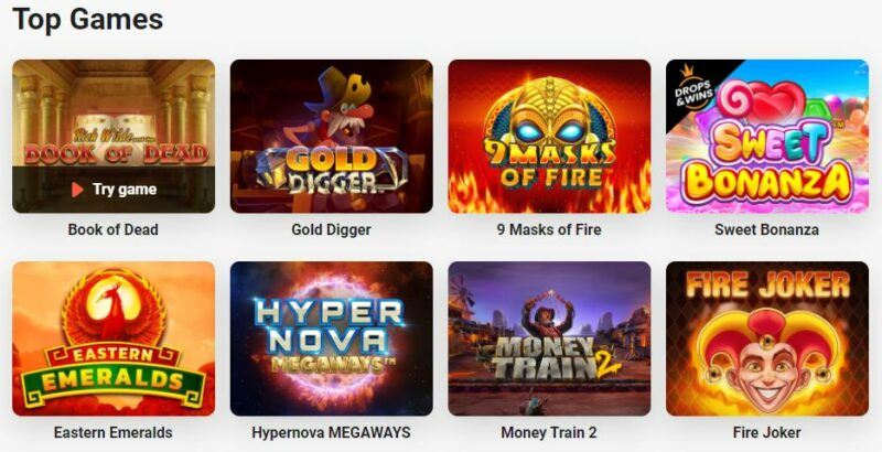 Top Leo Vegas casino games screenshot