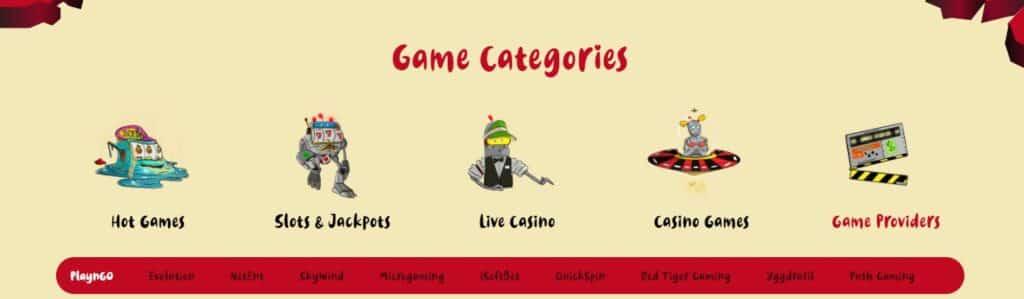 Casoola games page screenshot