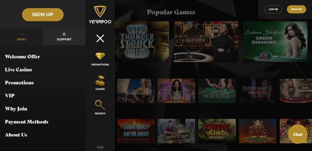 Vegasoo homepage screenshot