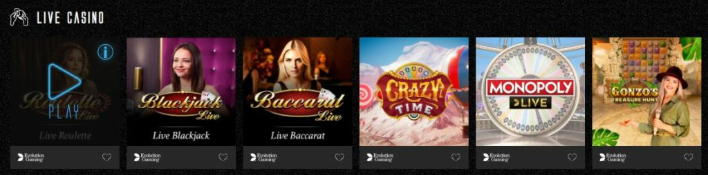 live casino at Captain Spins